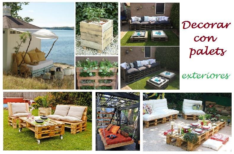 Decorar con palets exteriores i for Sofas para jardines exteriores